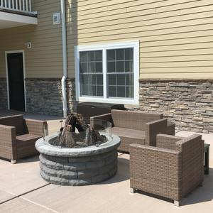 Community Fire Pit and Walk Way